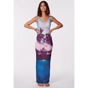 MISSGUIDED Fayna Palm Tree Print Maxi Dress - 4
